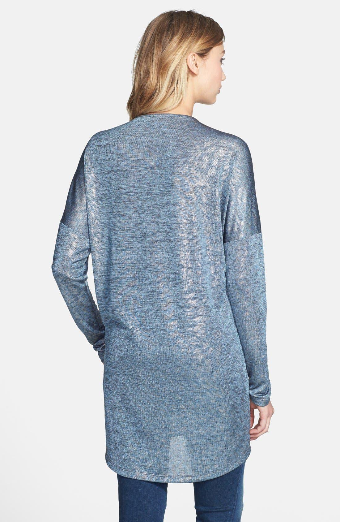 Alternate Image 2  - June & Hudson V-Neck Metallic Tunic Sweater