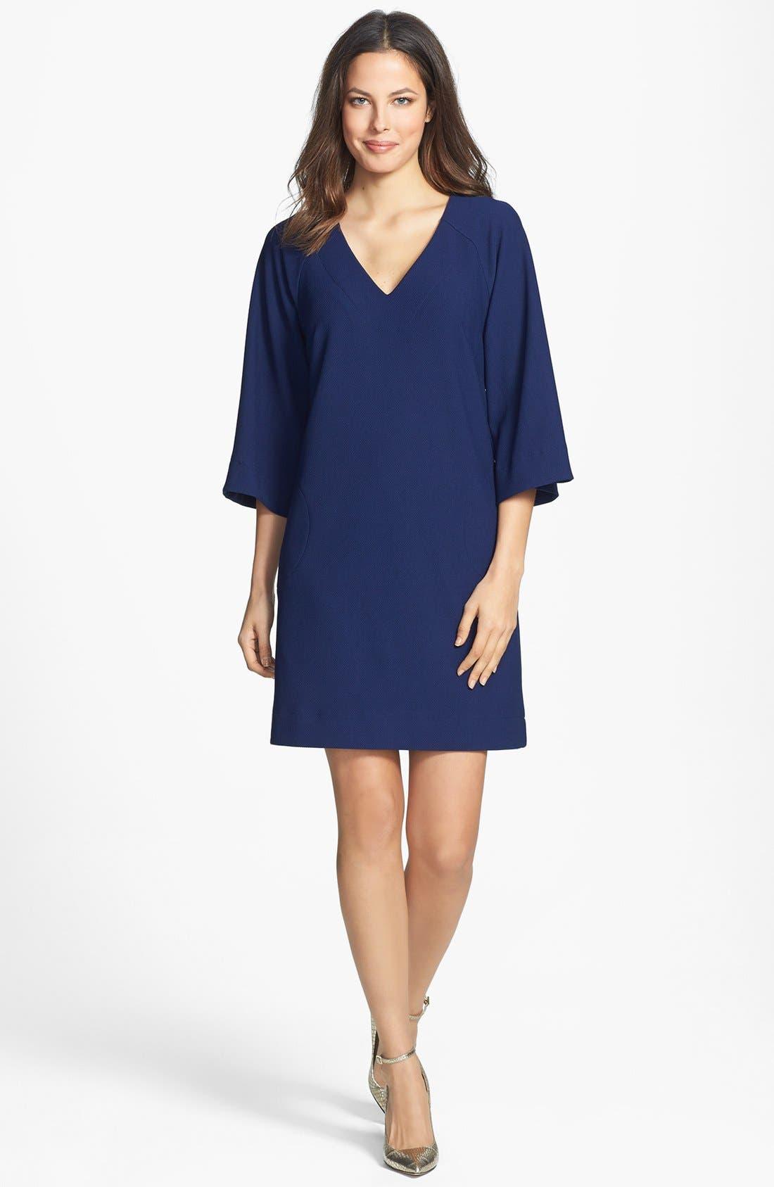 Alternate Image 2  - Donna Ricco Ottoman Piqué Shift Dress