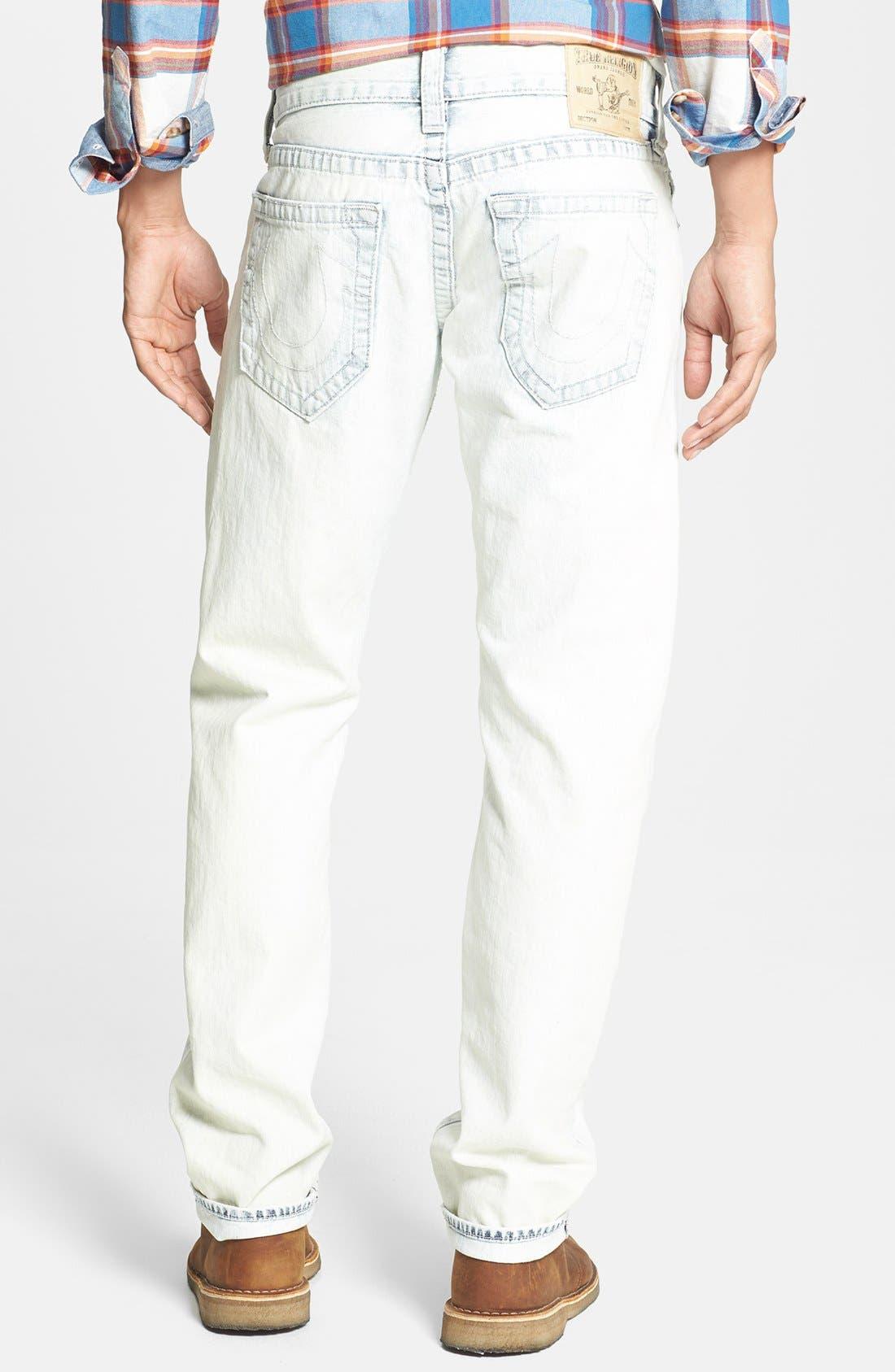Alternate Image 1 Selected - True Religion Brand Jeans 'Geno' Straight Leg Jeans (Azml White Keys)