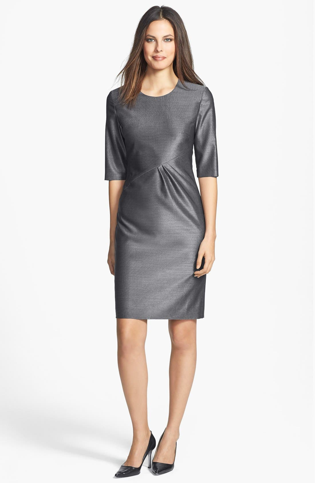Alternate Image 1 Selected - BOSS HUGO BOSS 'Dipera' Wool Blend Sheath Dress