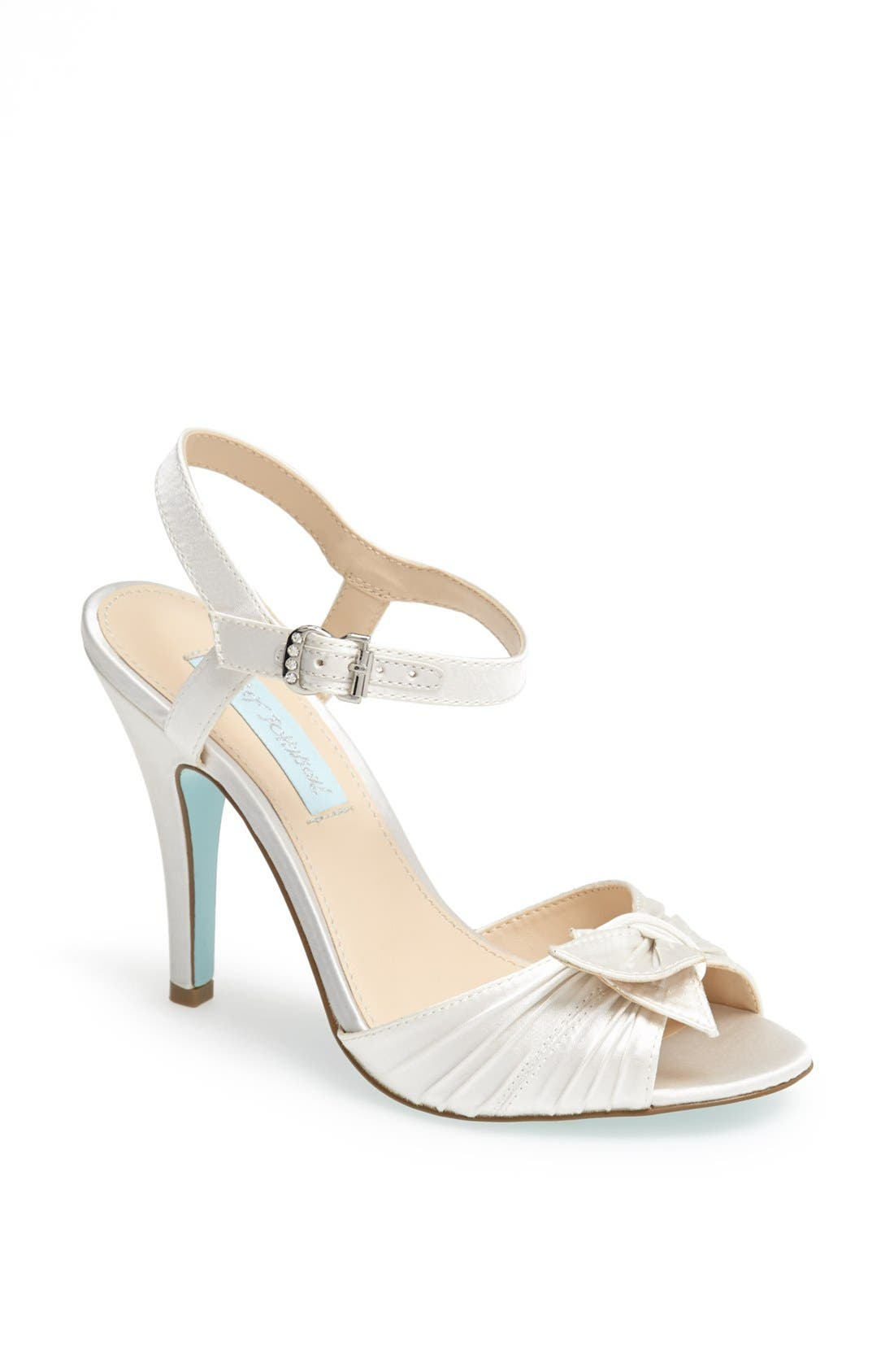Alternate Image 1 Selected - Blue by Betsey Johnson 'Party' Satin Sandal