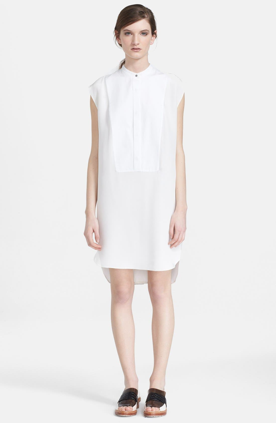 Alternate Image 1 Selected - 3.1 Phillip Lim Collarless Cotton Shirtdress