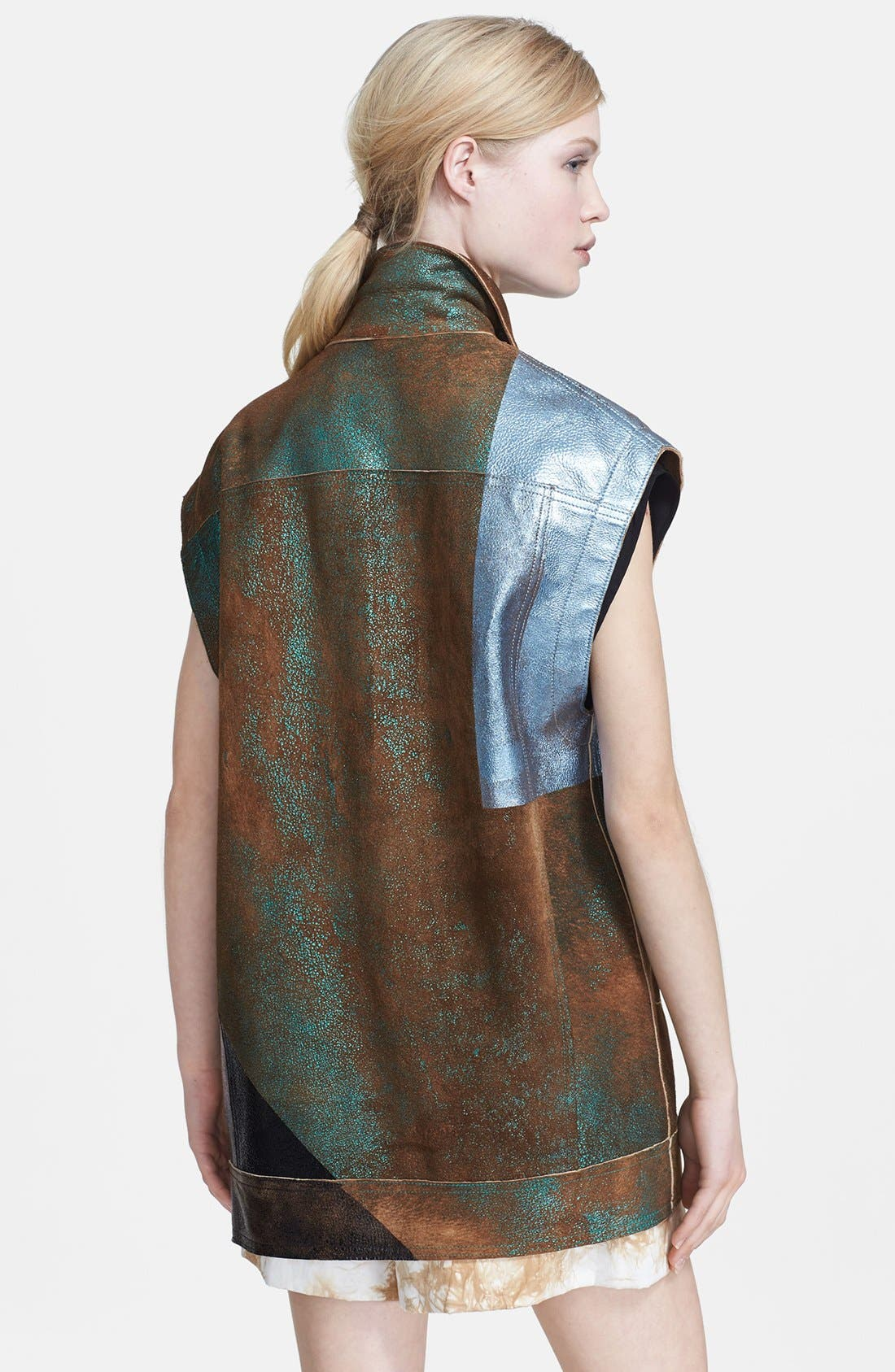 Alternate Image 2  - 3.1 Phillip Lim Foiled Moto Leather Vest