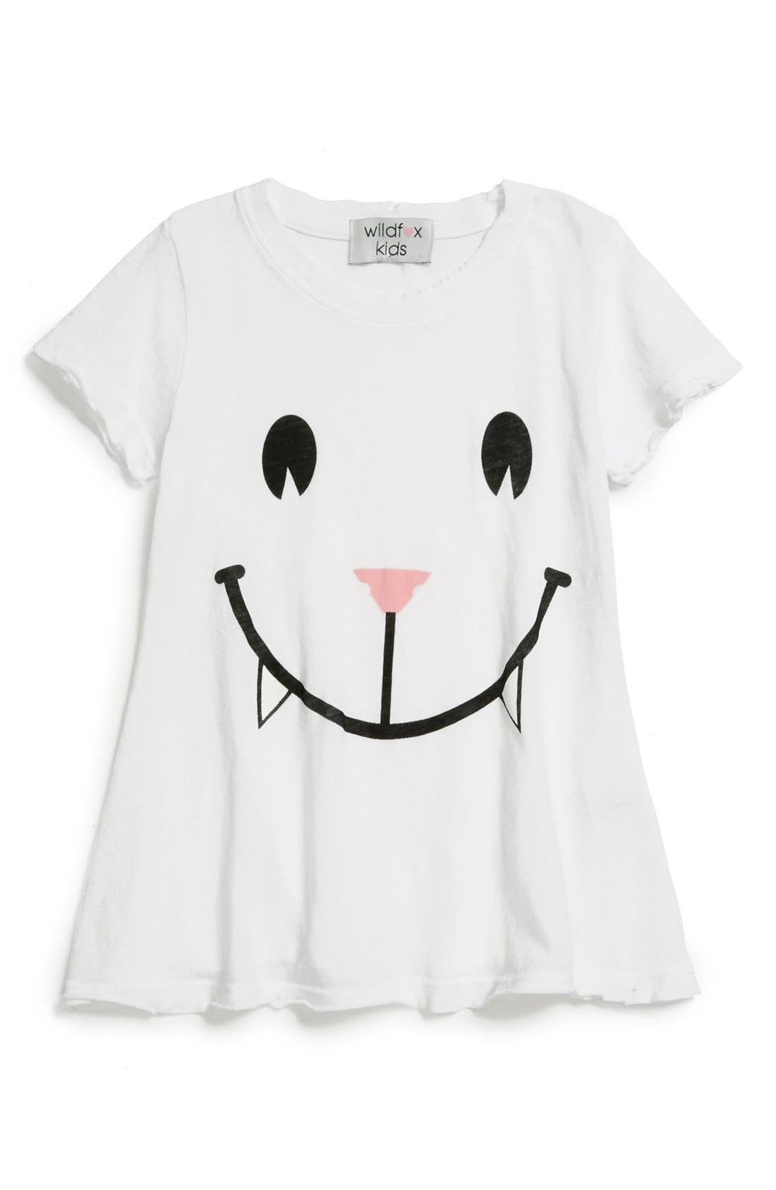Alternate Image 1 Selected - Wildfox 'Cat' Graphic Tee (Little Girls & Big Girls)