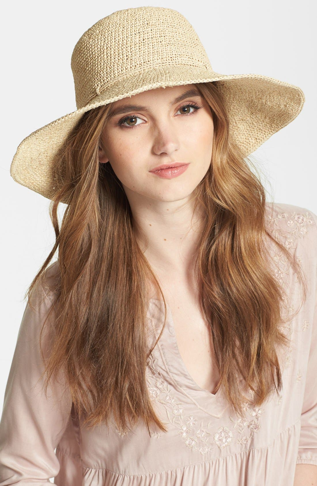 Alternate Image 1 Selected - Helen Kaminski 'Tahana' Raffia Hat