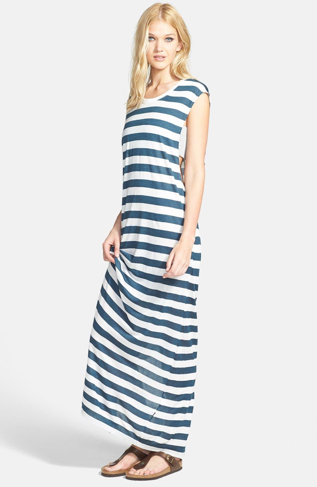 Main Image - MINKPINK 'Wild Wild Life' Stripe Jersey Maxi Dress