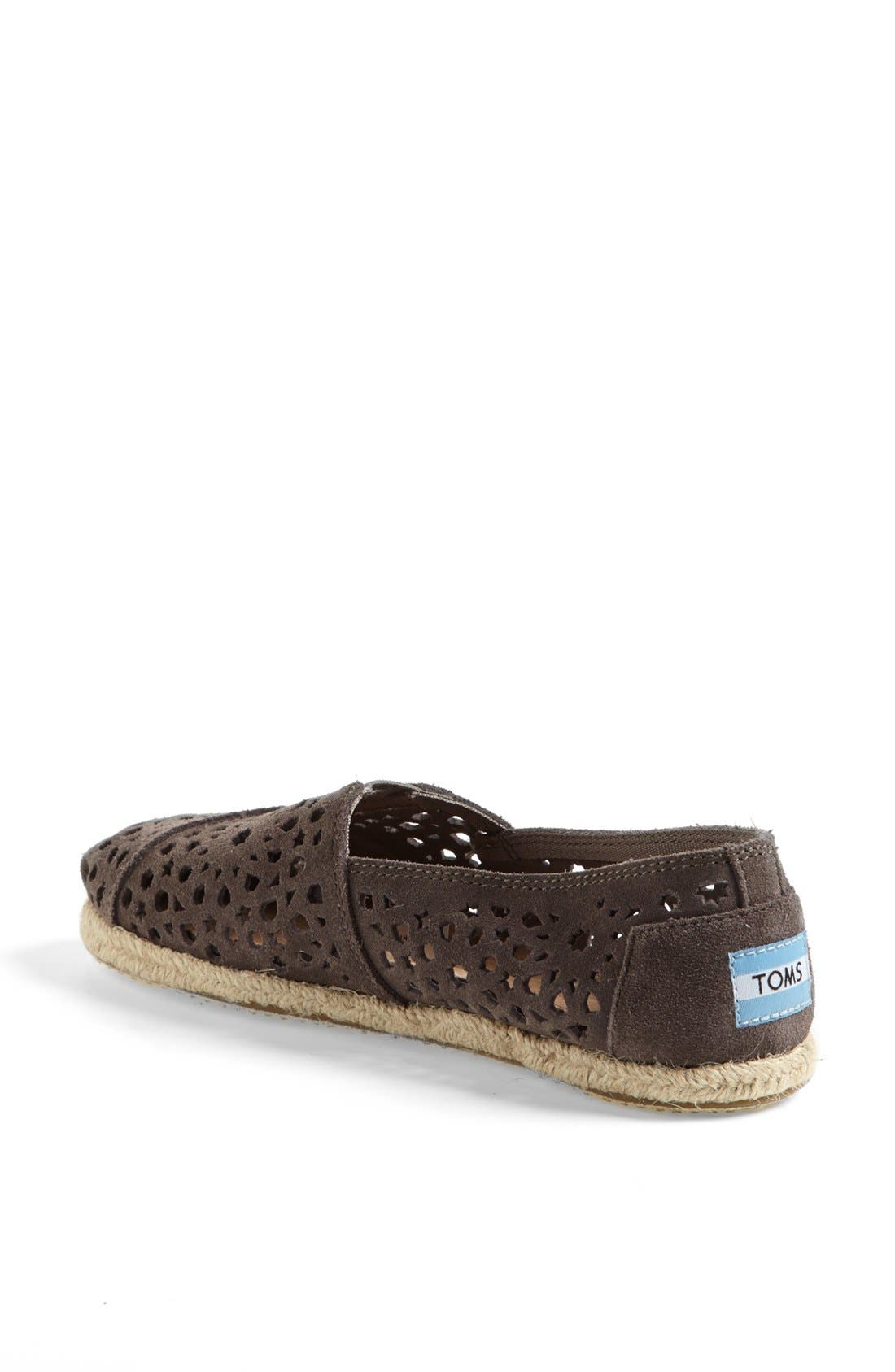 Alternate Image 2  - TOMS 'Classic - Moroccan Cutout' Slip-On (Women)