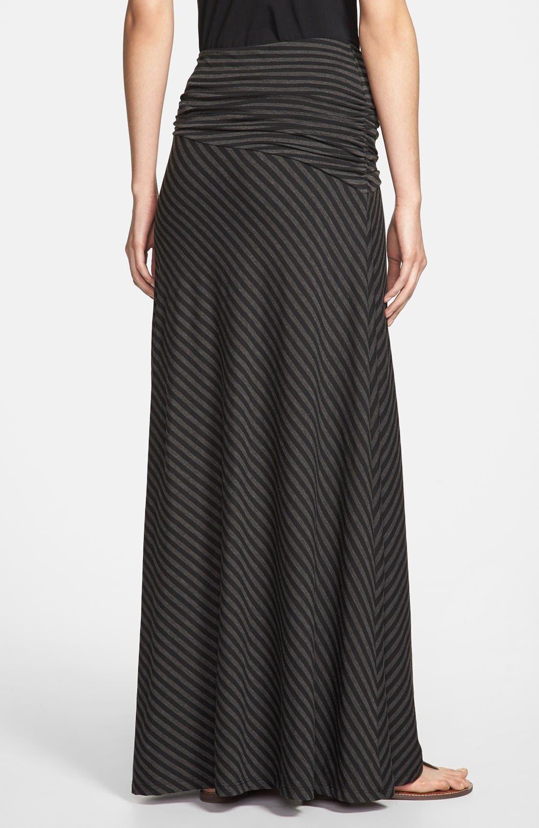 Alternate Image 2  - Bobeau Long Stripe Skirt (Regular & Petite)