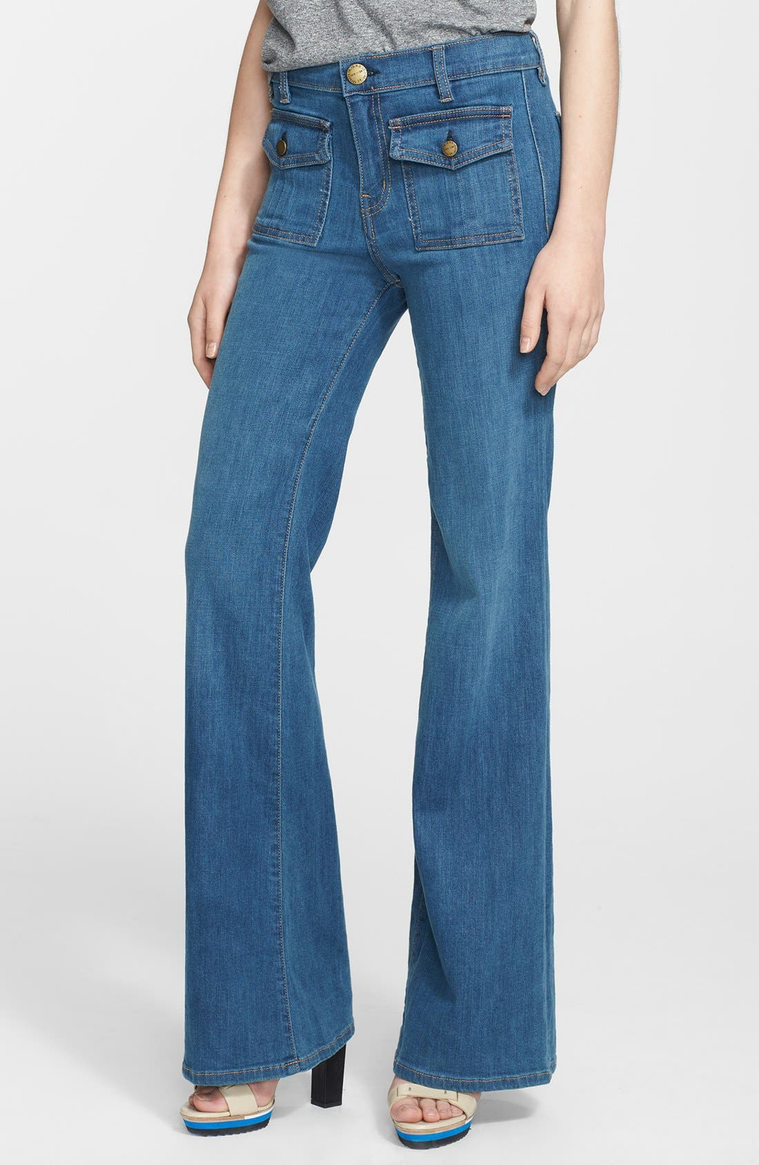 Main Image - Current/Elliott 'The Dixie' Wide Leg Jeans (Cooper)