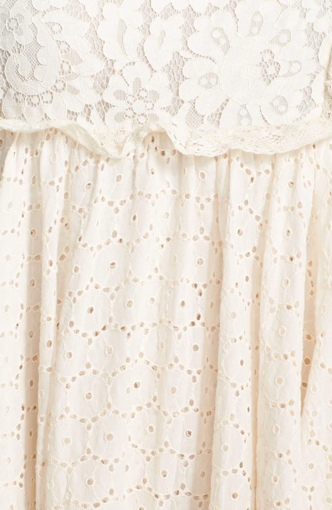 Alternate Image 3  - Free People 'Candle Light' Eyelet Midi Dress