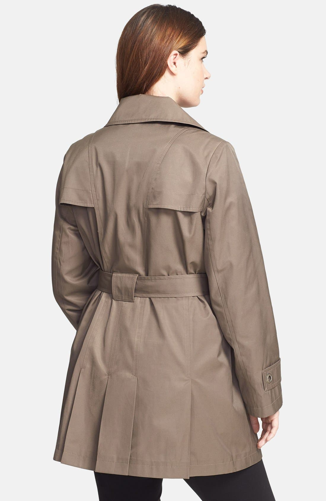 Alternate Image 4  - Via Spiga 'Scarpa' Single Breasted Hooded Trench (Plus Size)