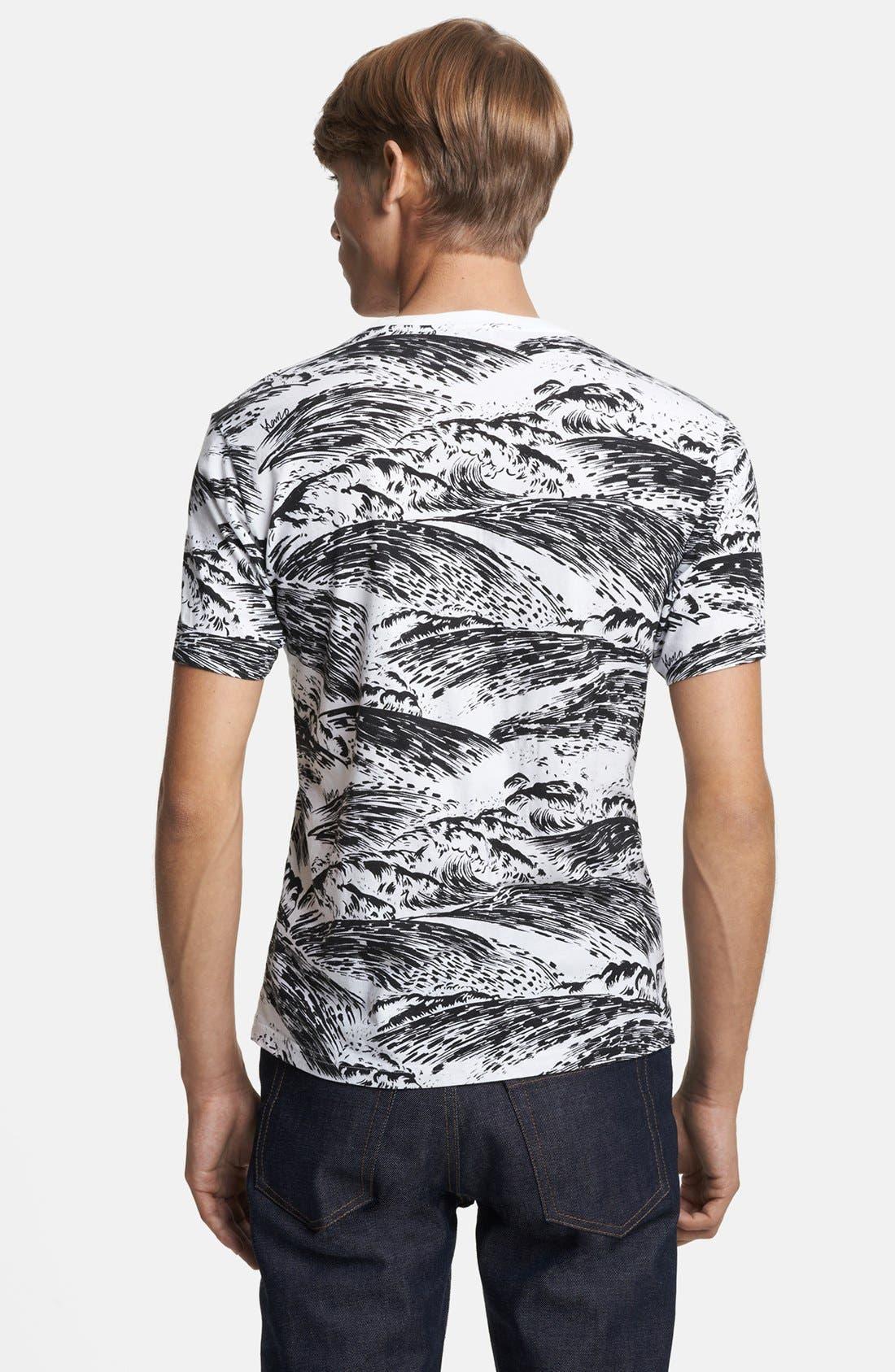Alternate Image 2  - KENZO Wave Print Crewneck T-Shirt