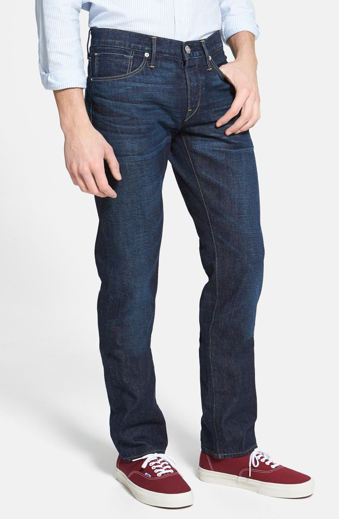 Alternate Image 1 Selected - 3x1 NYC 'M4' Straight Leg Selvedge Jeans (Walker)