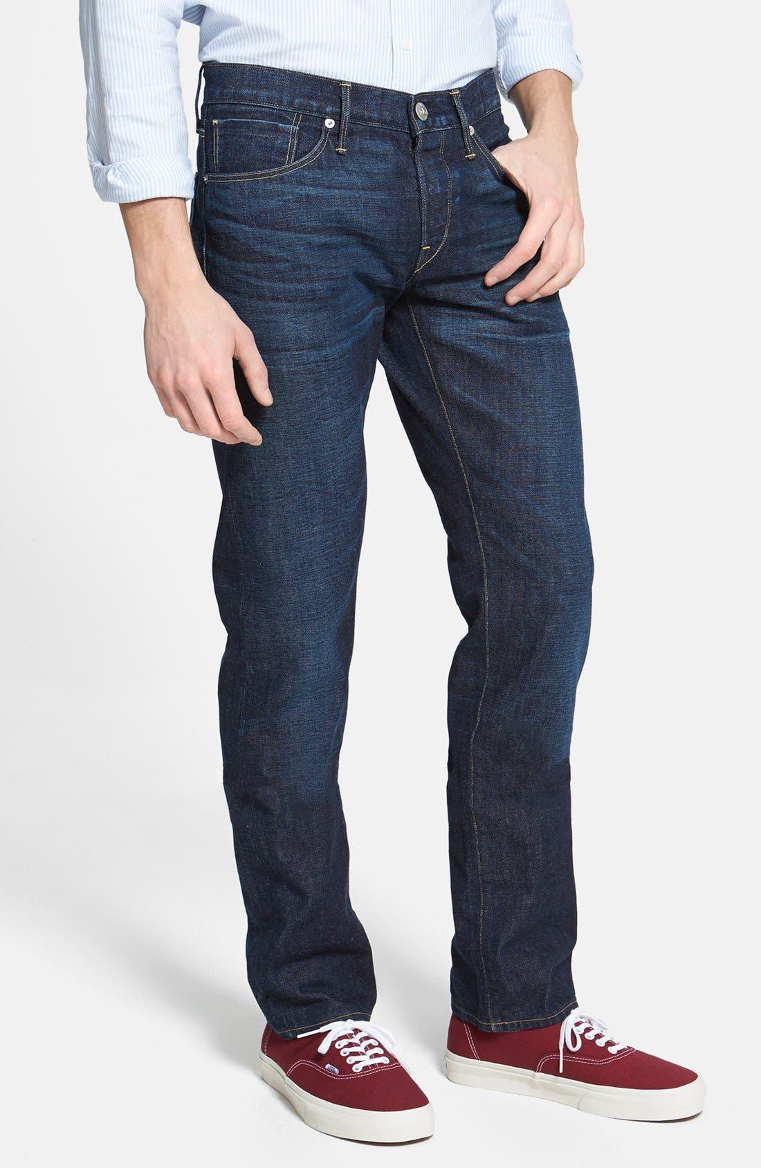 Main Image - 3x1 NYC 'M4' Straight Leg Selvedge Jeans (Walker)