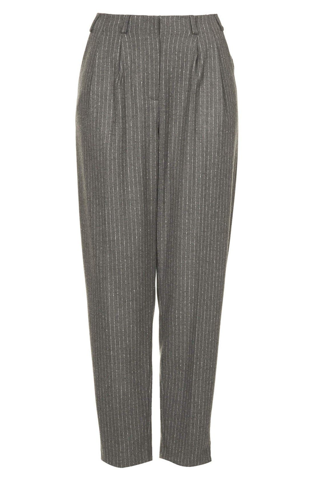 Alternate Image 3  - Topshop Pinstripe Peg Leg Trousers