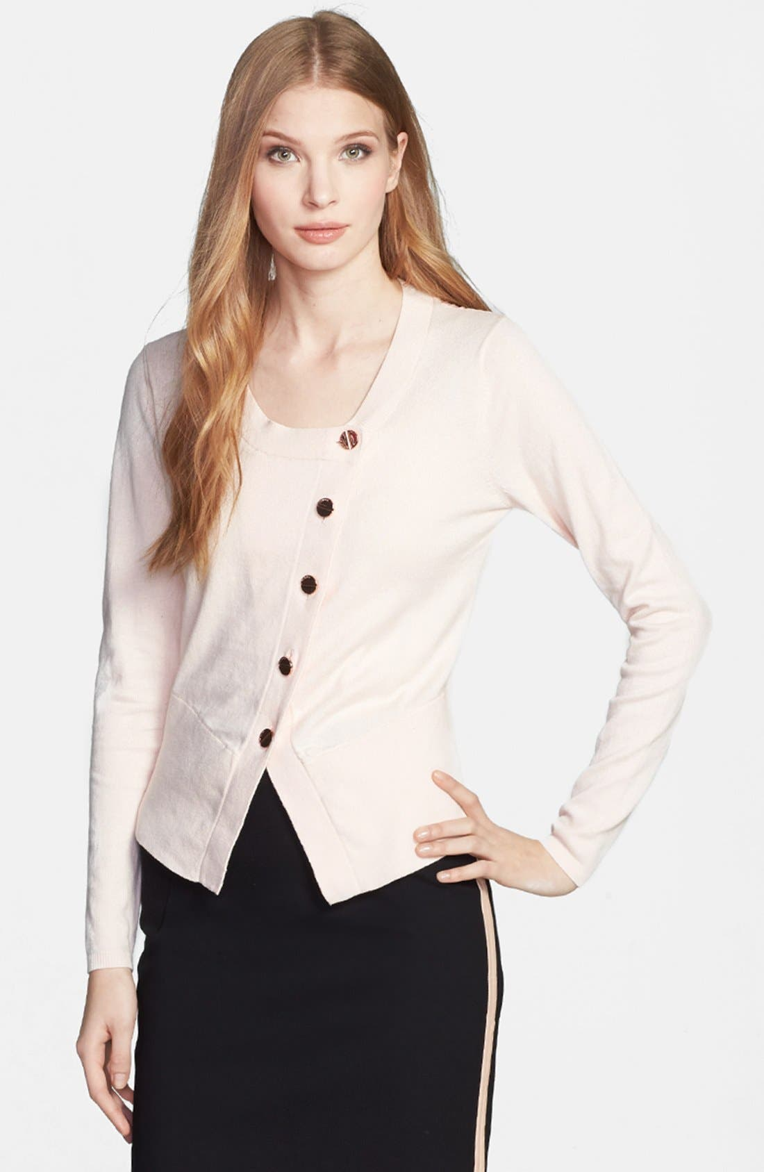 Alternate Image 1 Selected - Ted Baker London 'Nude Oil Painting' Floral Insert Cardigan