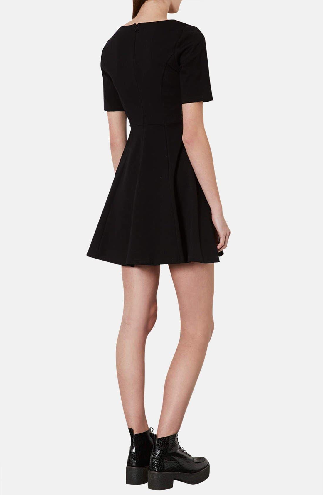 Alternate Image 2  - Topshop Jersey Skater Dress
