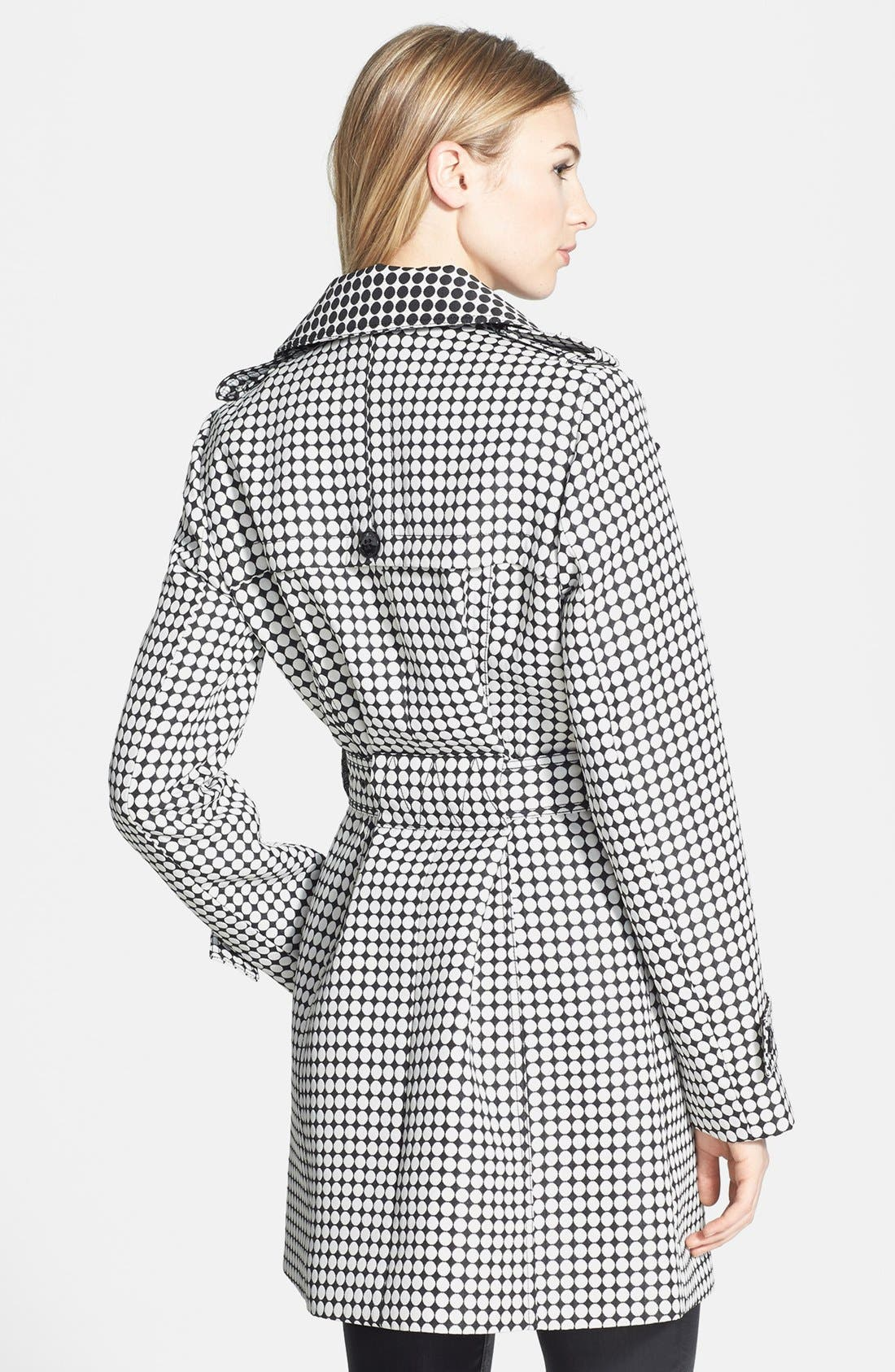Alternate Image 2  - Kenneth Cole New York Dot Print Asymmetric Trench Coat