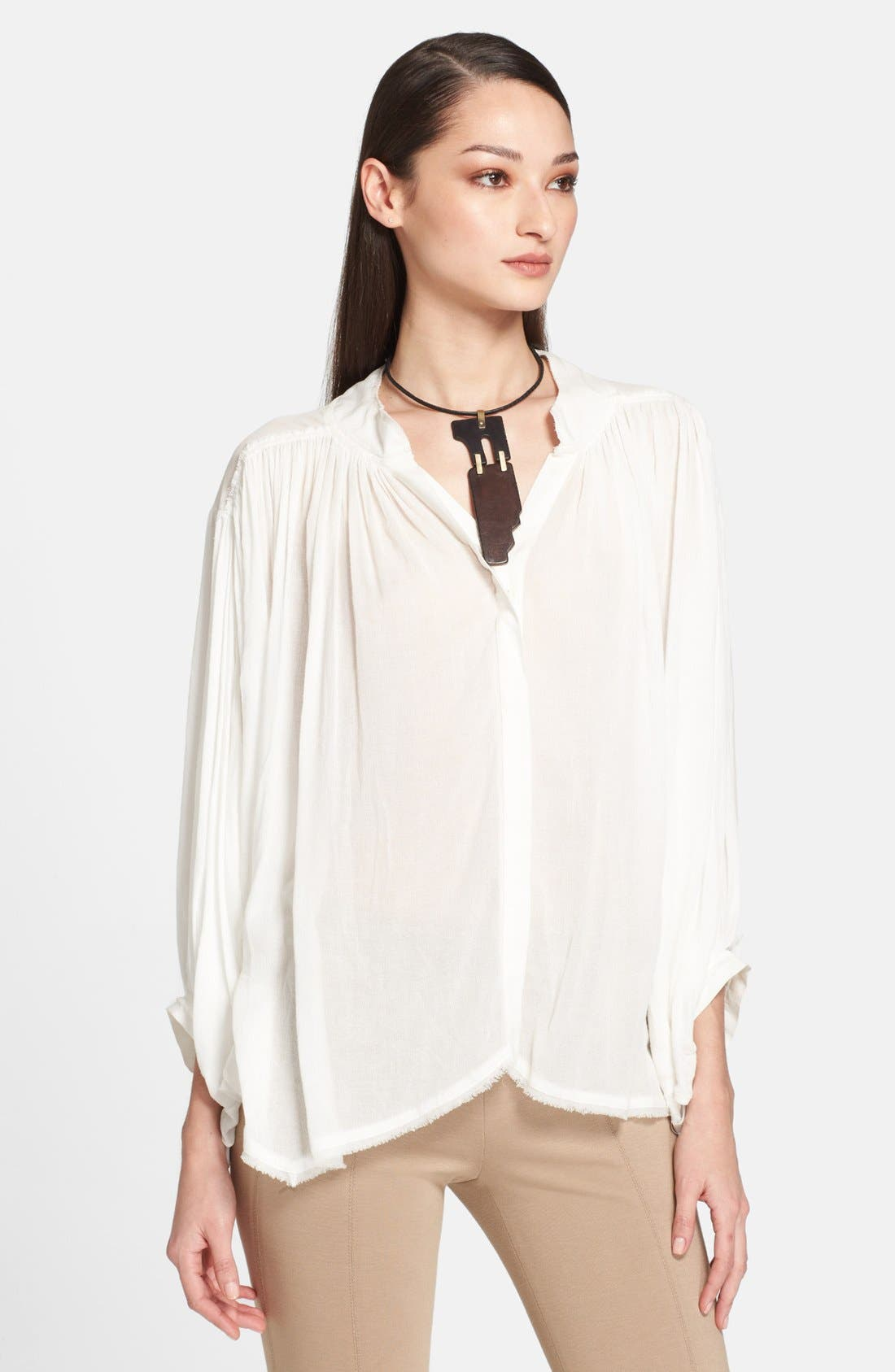 Alternate Image 1 Selected - Donna Karan Collection Crepe Poet Blouse