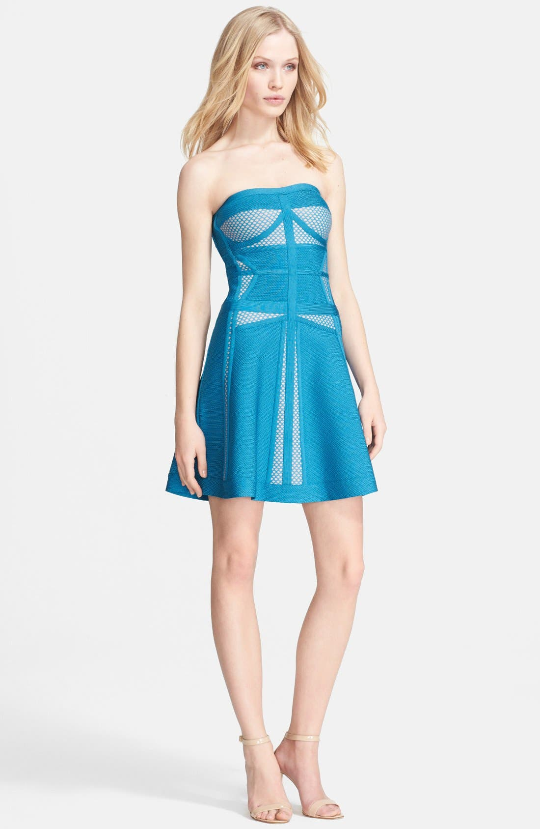 Main Image - Herve Leger Fit & Flare Sweater Dress