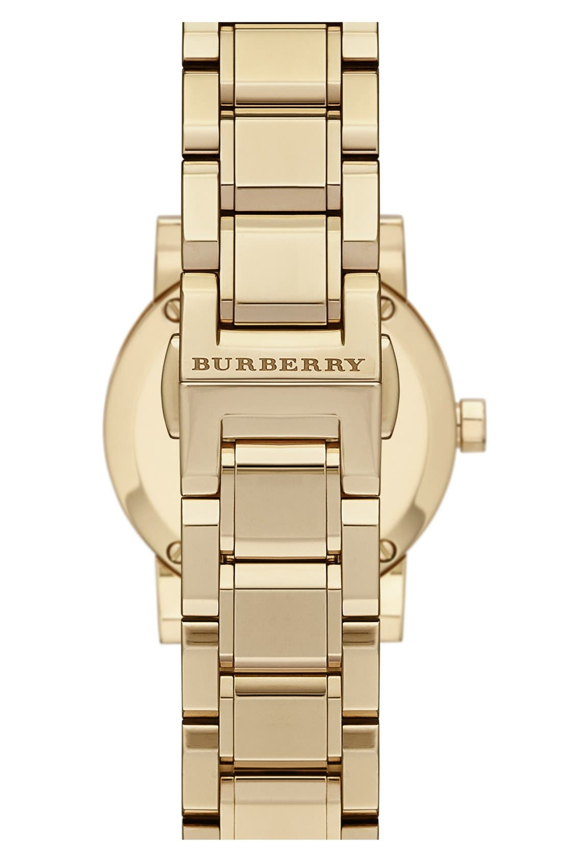 Alternate Image 2  - Burberry Check Stamped Round Bracelet Watch, 26mm