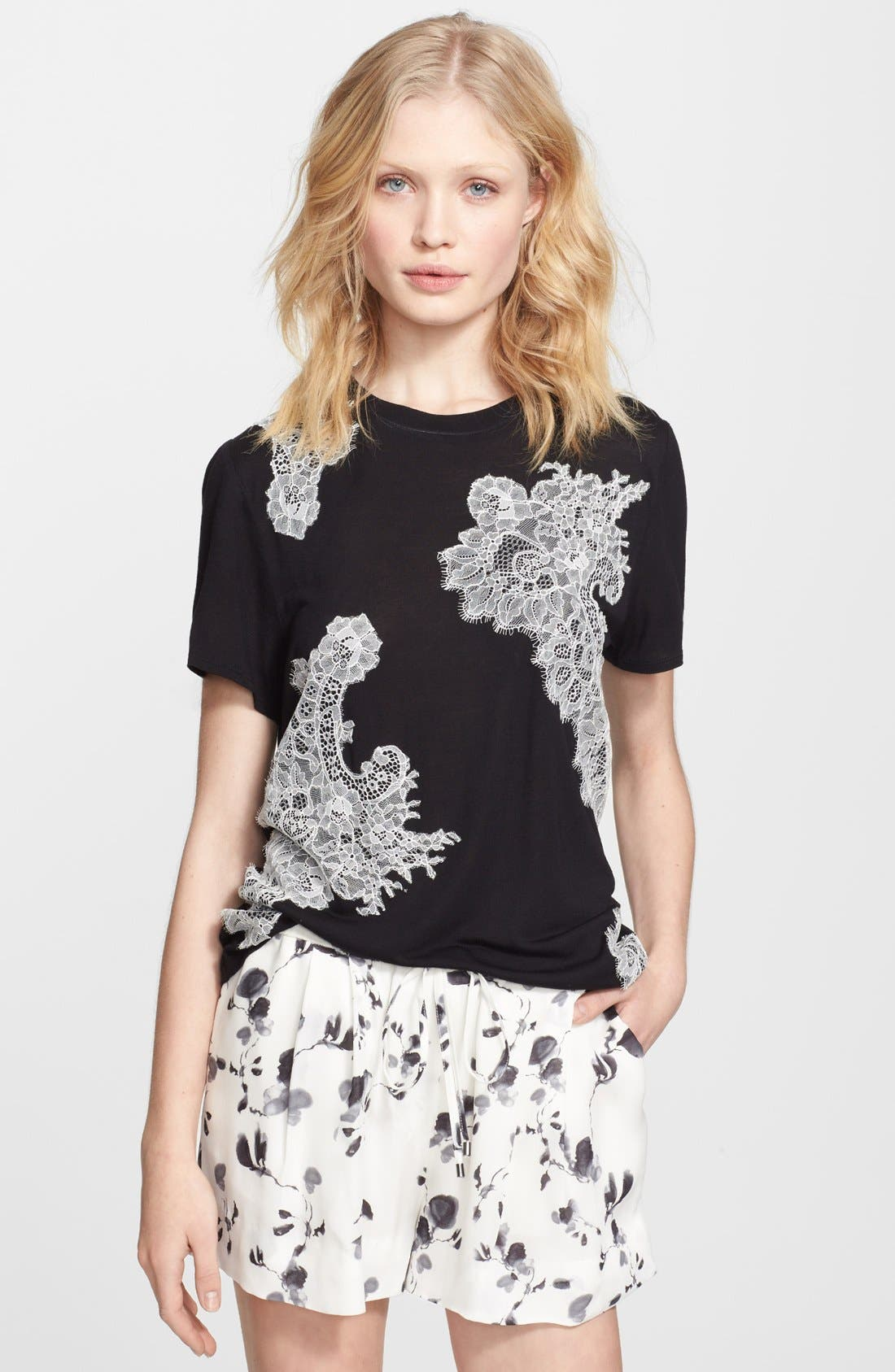 Alternate Image 1 Selected - Haute Hippie Lace Embellished Tee