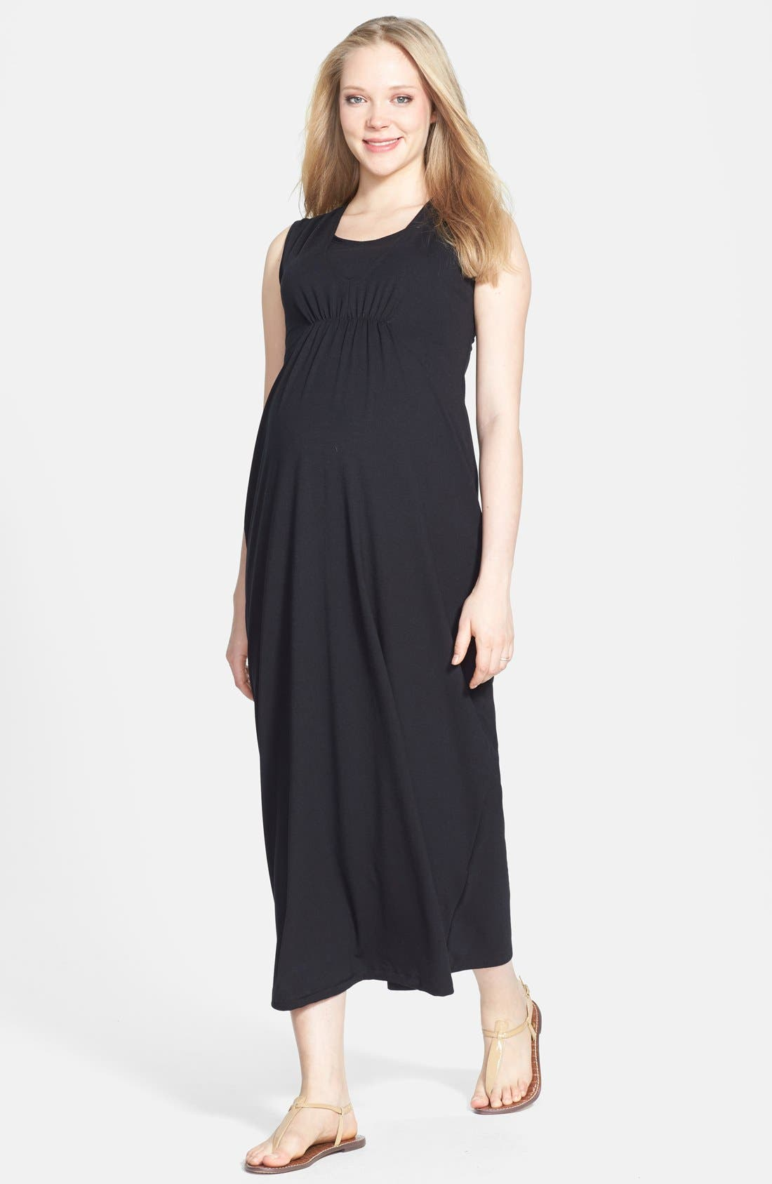 Alternate Image 1 Selected - Japanese Weekend Maxi Maternity/Nursing Dress