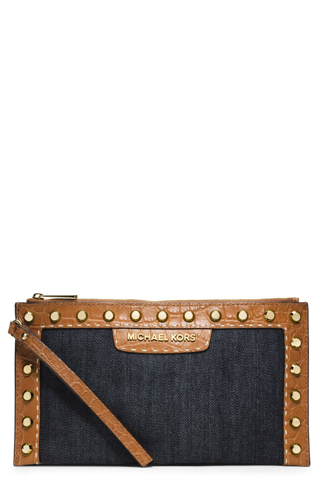 Alternate Image 1 Selected - MICHAEL Michael Kors 'Large Selma' Studded Clutch