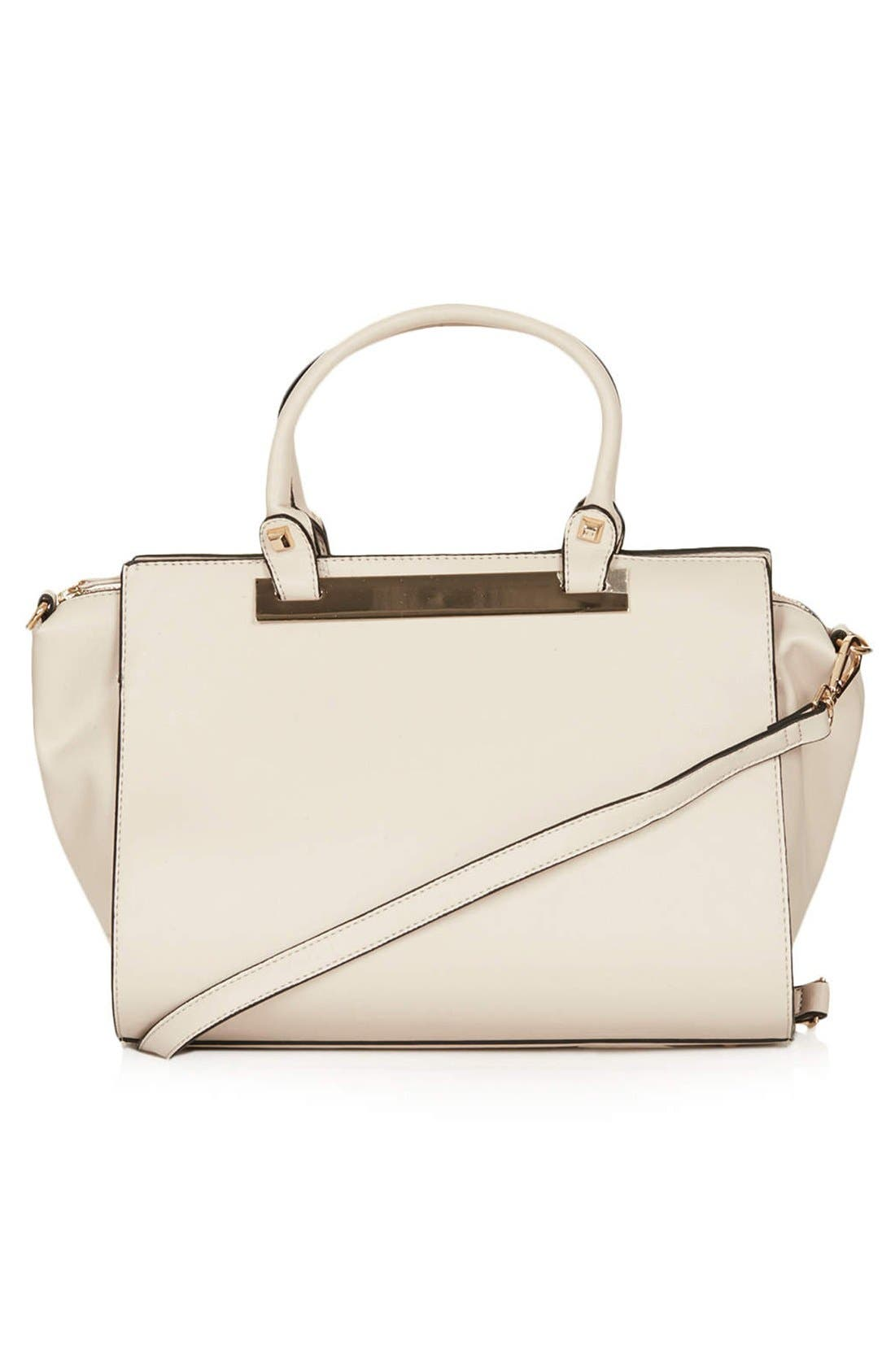 Alternate Image 1 Selected - Topshop Faux Leather Handbag