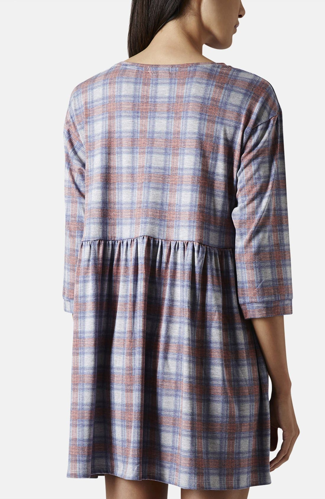 Alternate Image 2  - Topshop Check Smock Dress