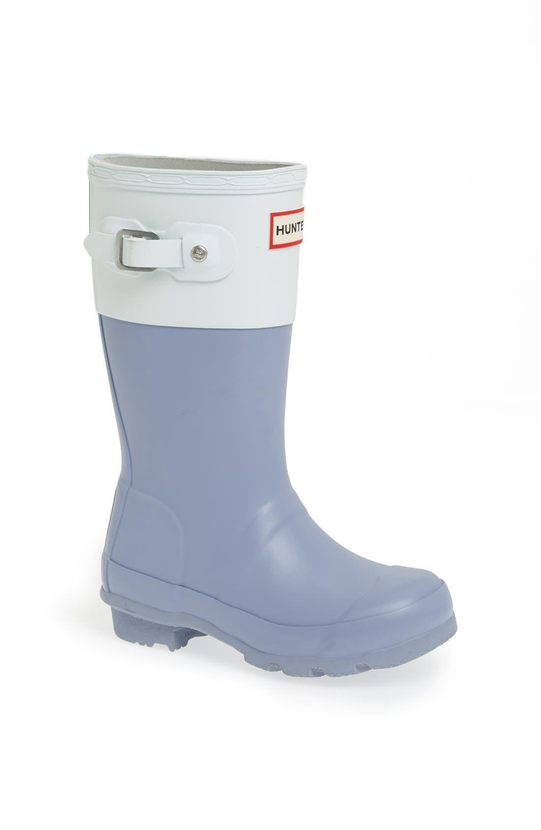 Alternate Image 1 Selected - Hunter 'Original Color Block' Rain Boot (Toddler & Little Kid)