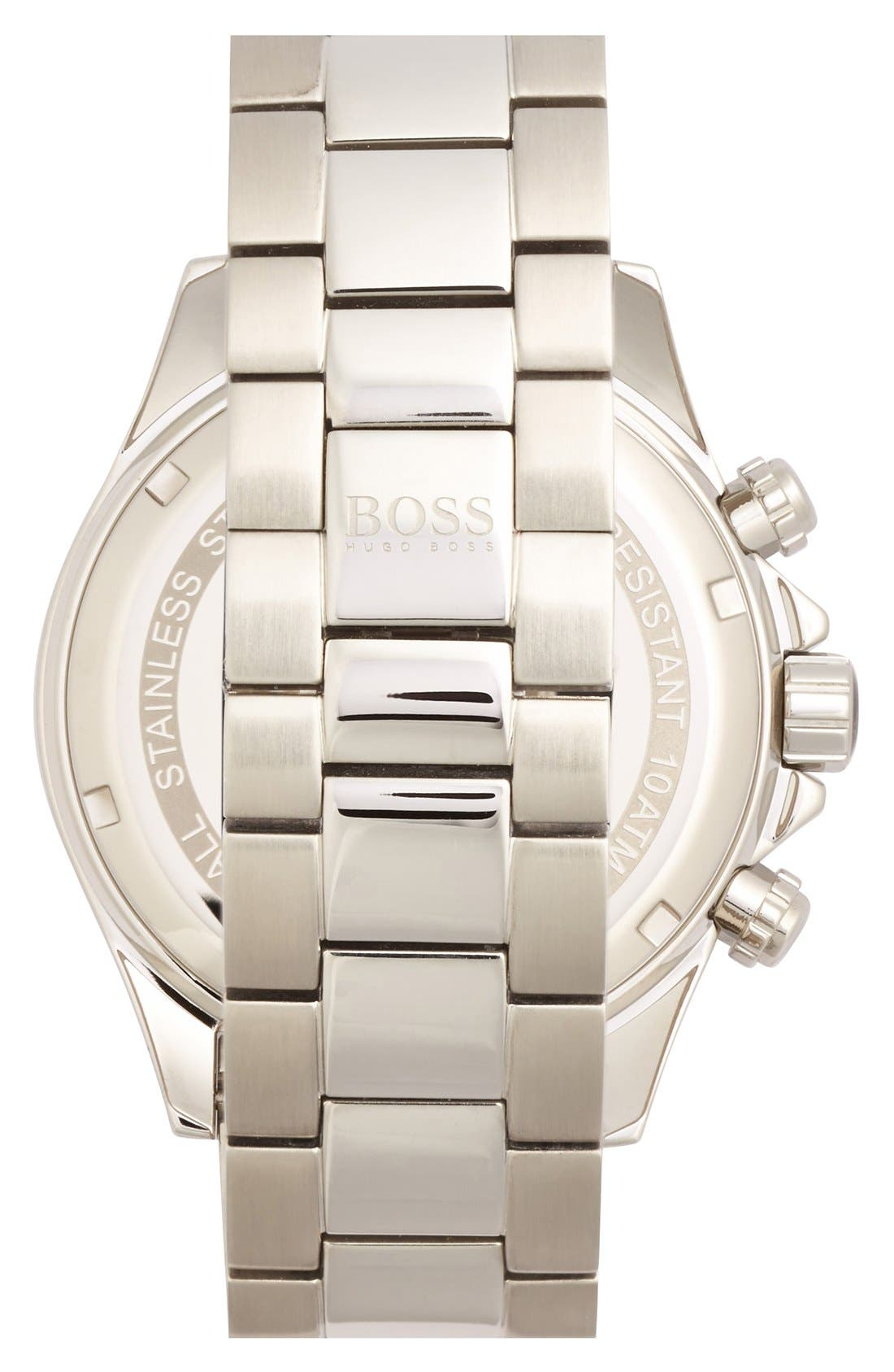 Alternate Image 2  - BOSS HUGO BOSS Round Chronograph Bracelet Watch, 44mm