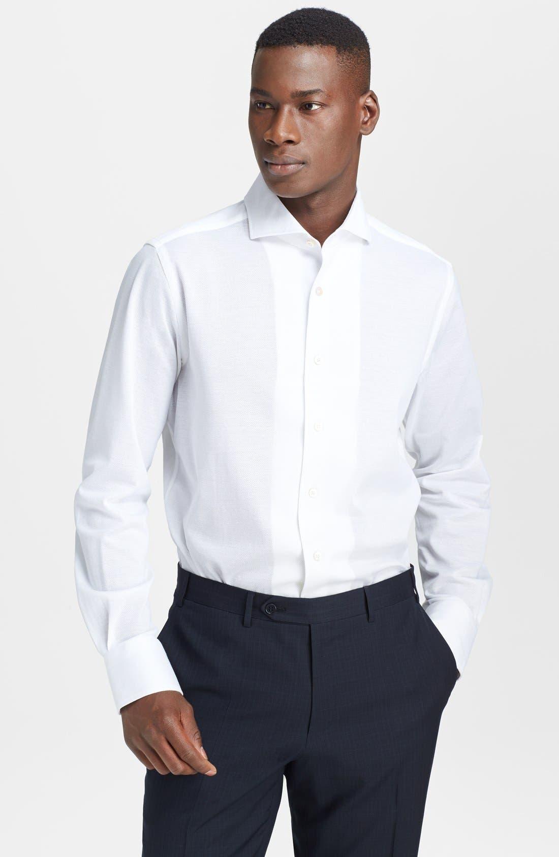 Main Image - Canali Cotton & Linen Knit Italian Sport Shirt