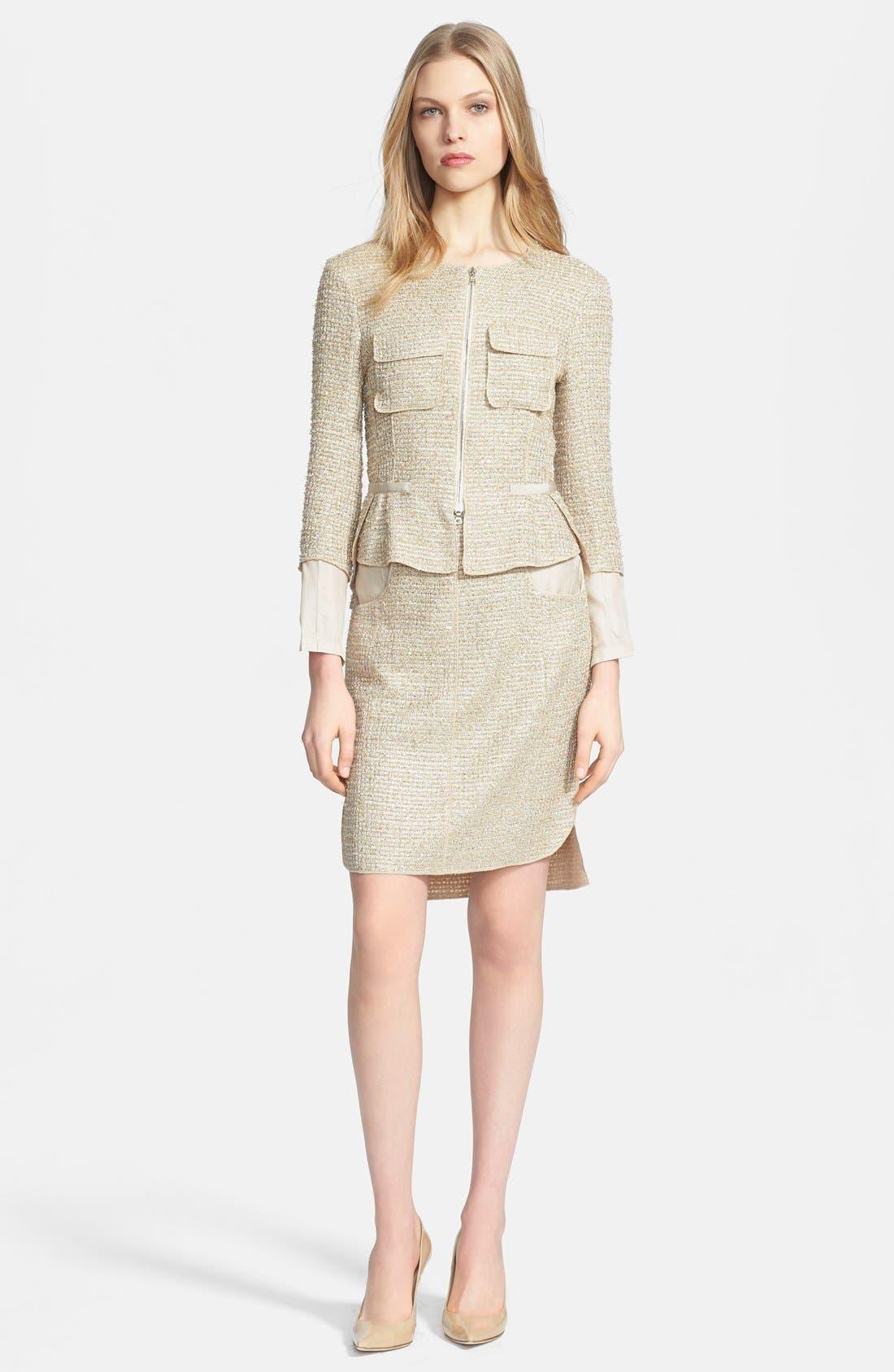 Alternate Image 3  - Nina Ricci Contrast Back Tweed Jacket