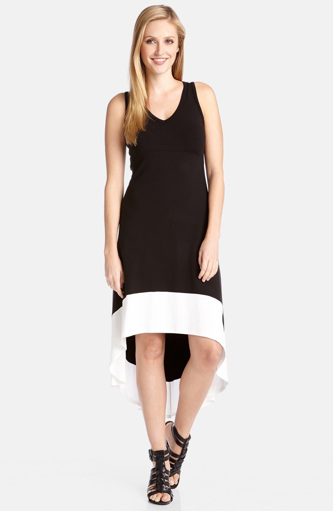 Main Image - Karen Kane High/Low Contrast Hem Dress