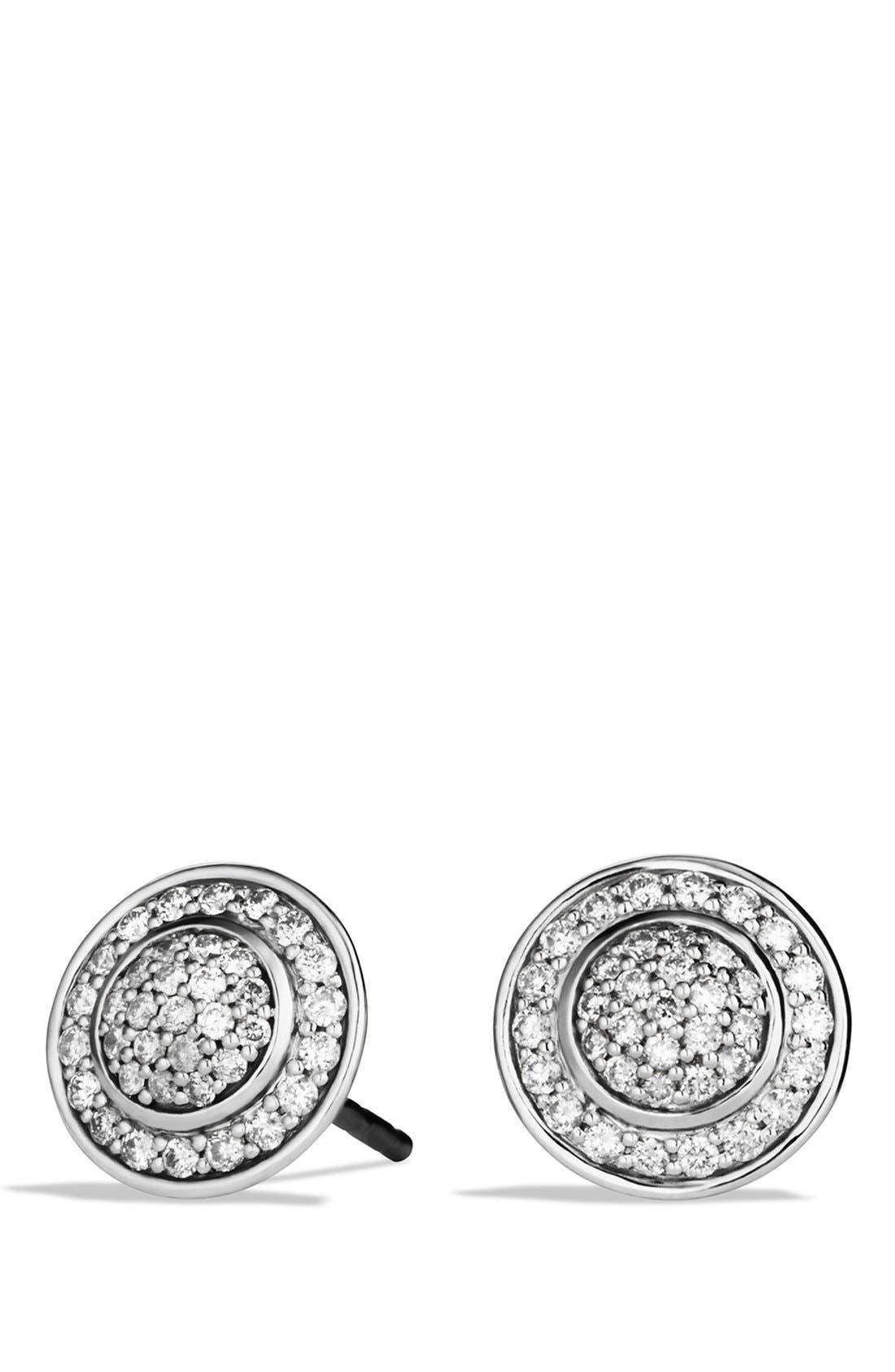 Alternate Image 1 Selected - David Yurman 'Cerise' Mini Earrings with Diamonds