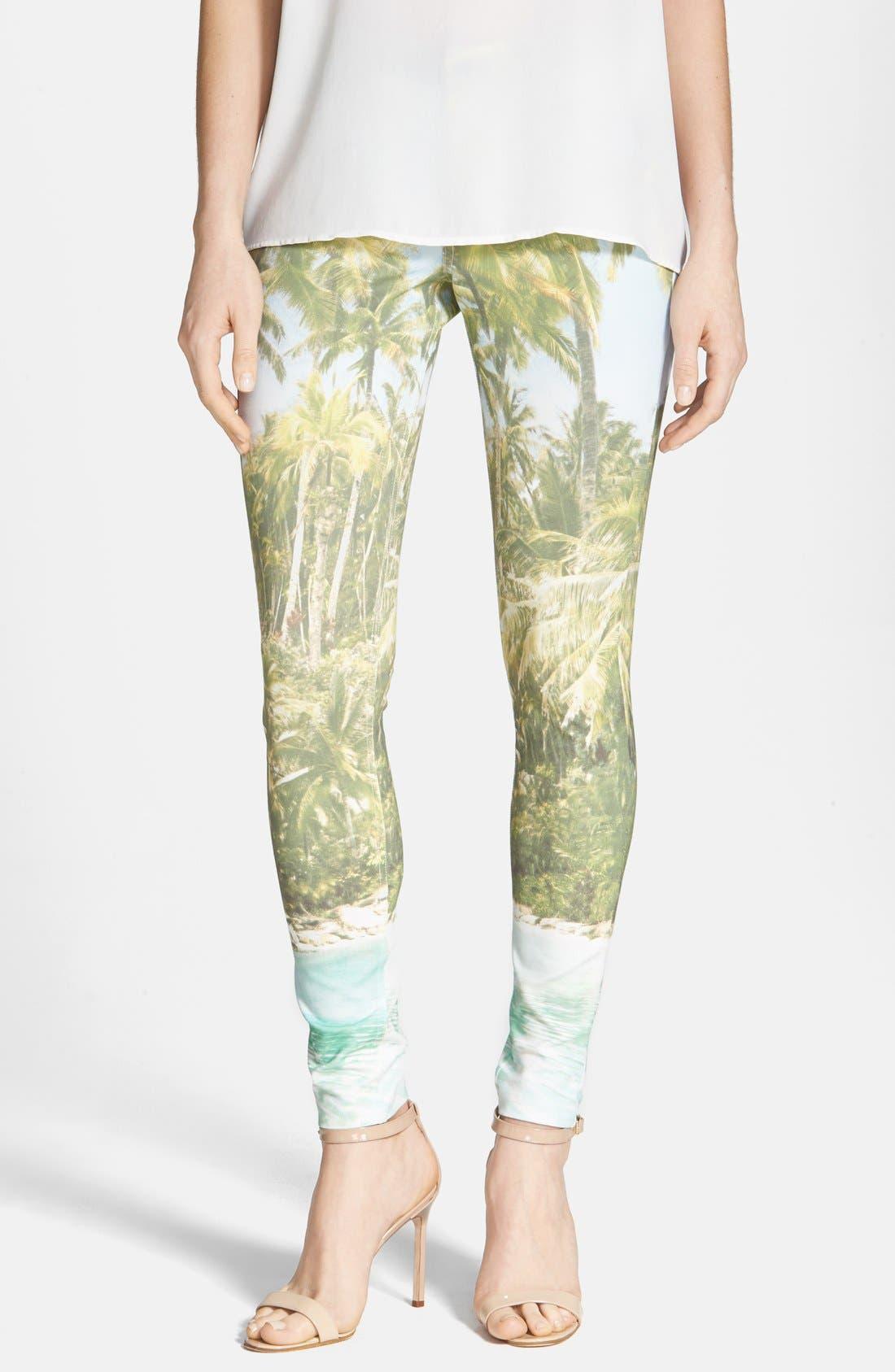 Alternate Image 1 Selected - Hue 'Tropical Sleek' Ponte Leggings