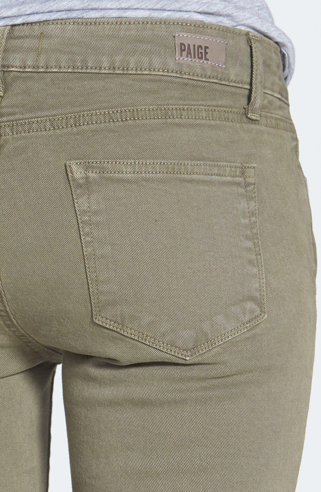 Alternate Image 3  - Paige Denim 'Jane' Zip Detail Ultra Skinny Ankle Jeans (Fatigue Green)