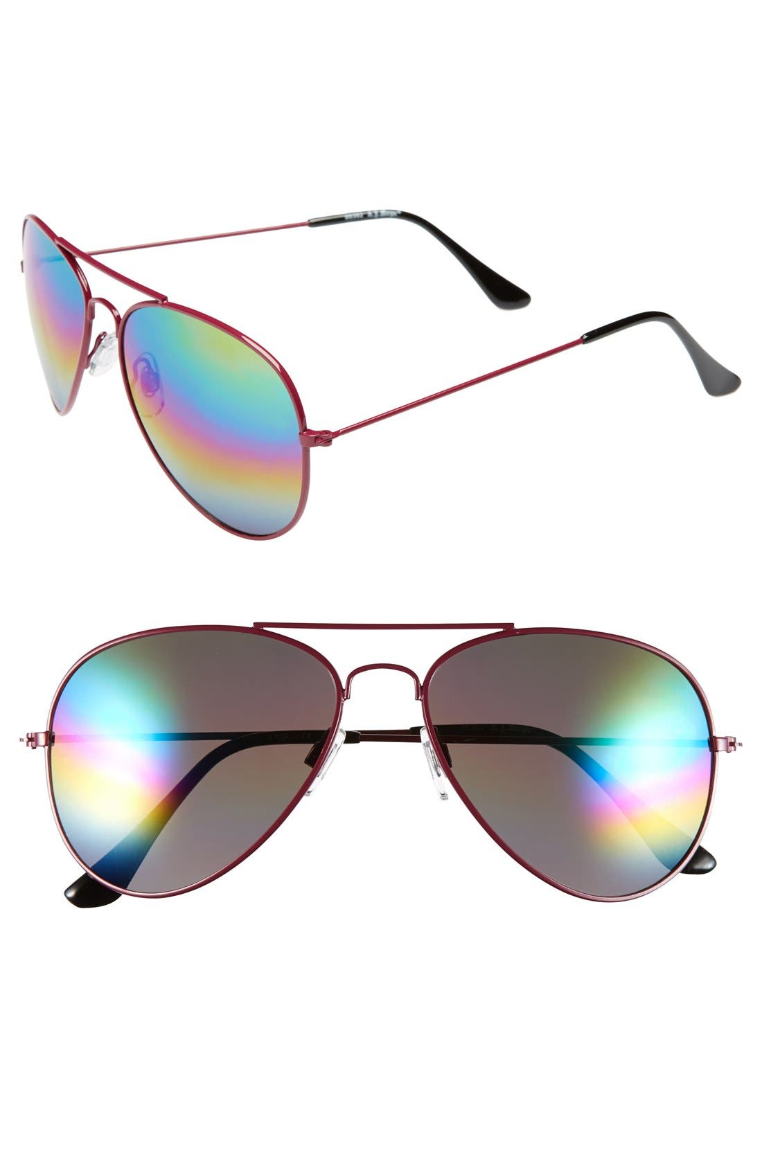 Alternate Image 1 Selected - A.J. Morgan 'Sunset' 57mm Aviator Sunglasses