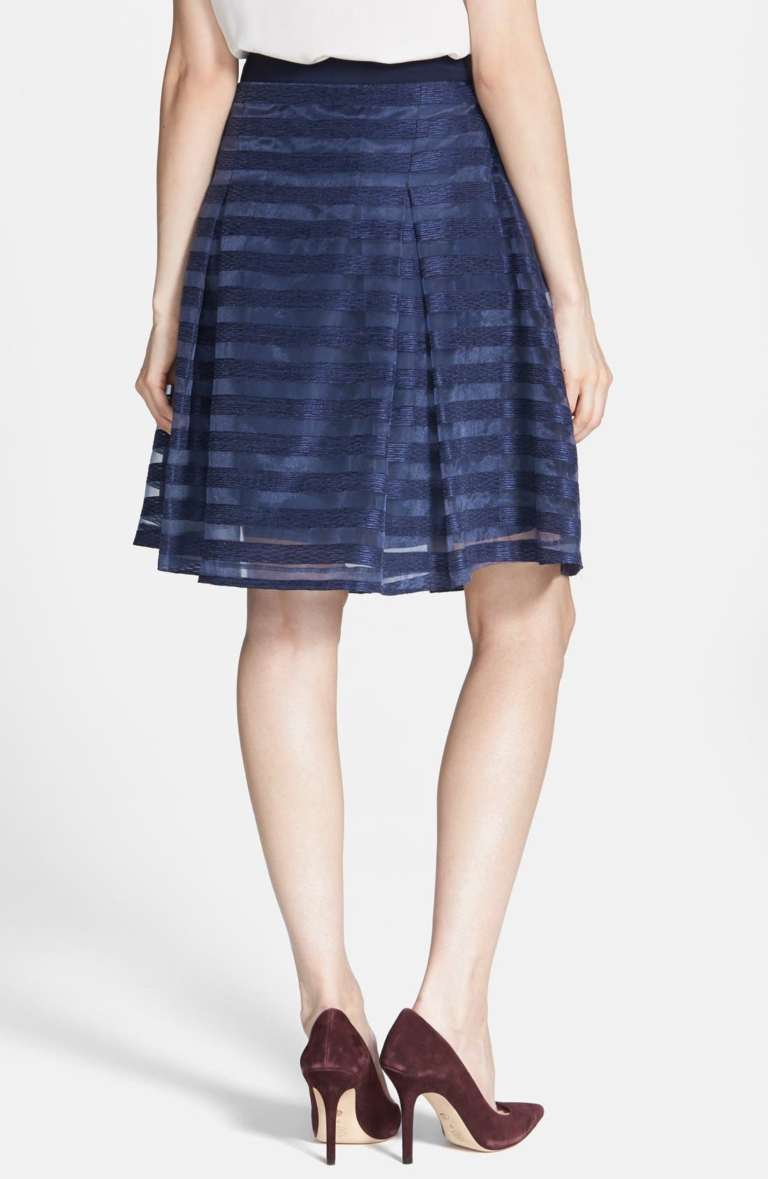 Alternate Image 2  - 1.STATE Organza Stripe Skirt