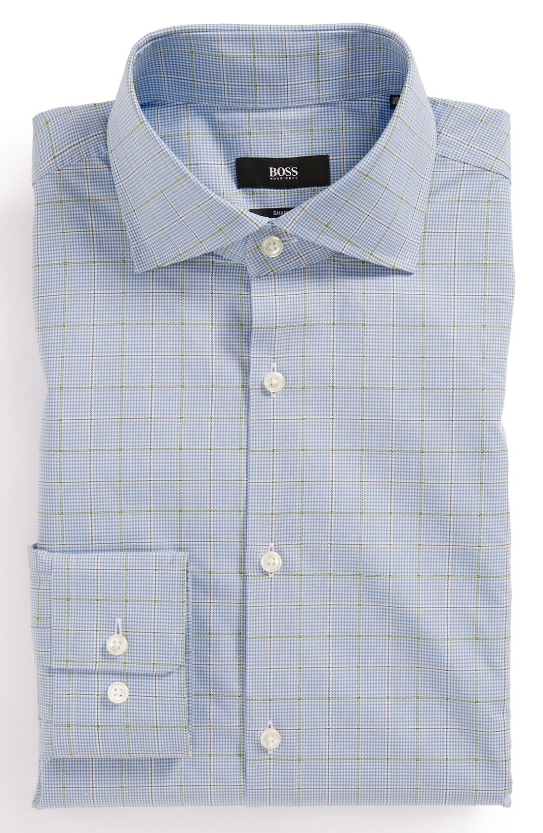 Main Image - HUGO BOSS TRIM DRESS SHIRT
