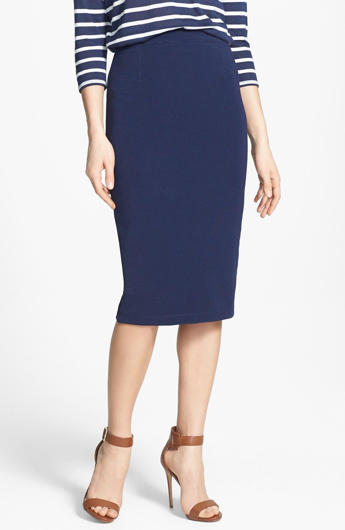 Alternate Image 1 Selected - Halogen® Ottoman Rib Tube Skirt (Regular & Petite)