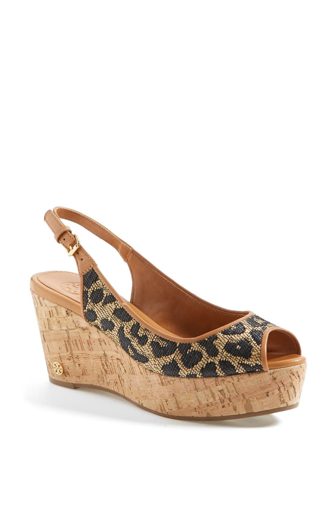 Alternate Image 1 Selected - Tory Burch 'Rosalind' Wedge Sandal (Online Only)