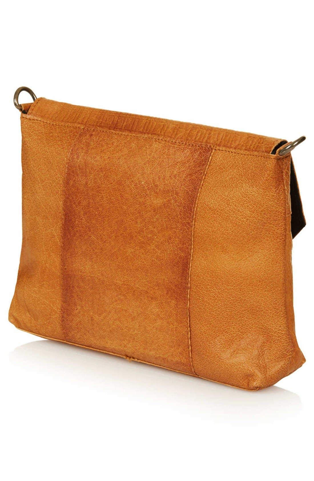 Alternate Image 4  - Topshop Textured Leather Crossbody Bag
