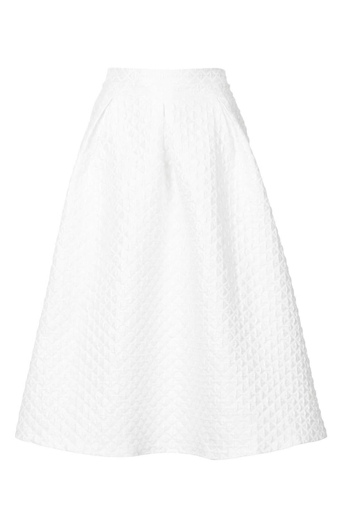 Alternate Image 3  - Topshop Diamond Jacquard Midi Skirt