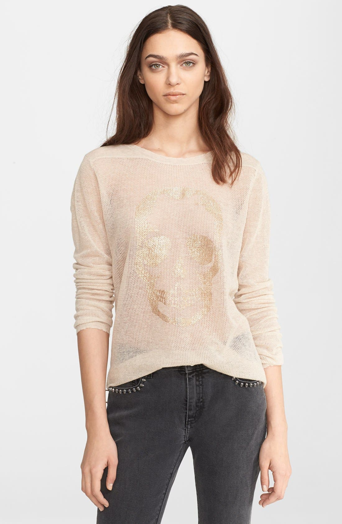Alternate Image 1 Selected - Zadig & Voltaire Foiled Cashmere Sweater