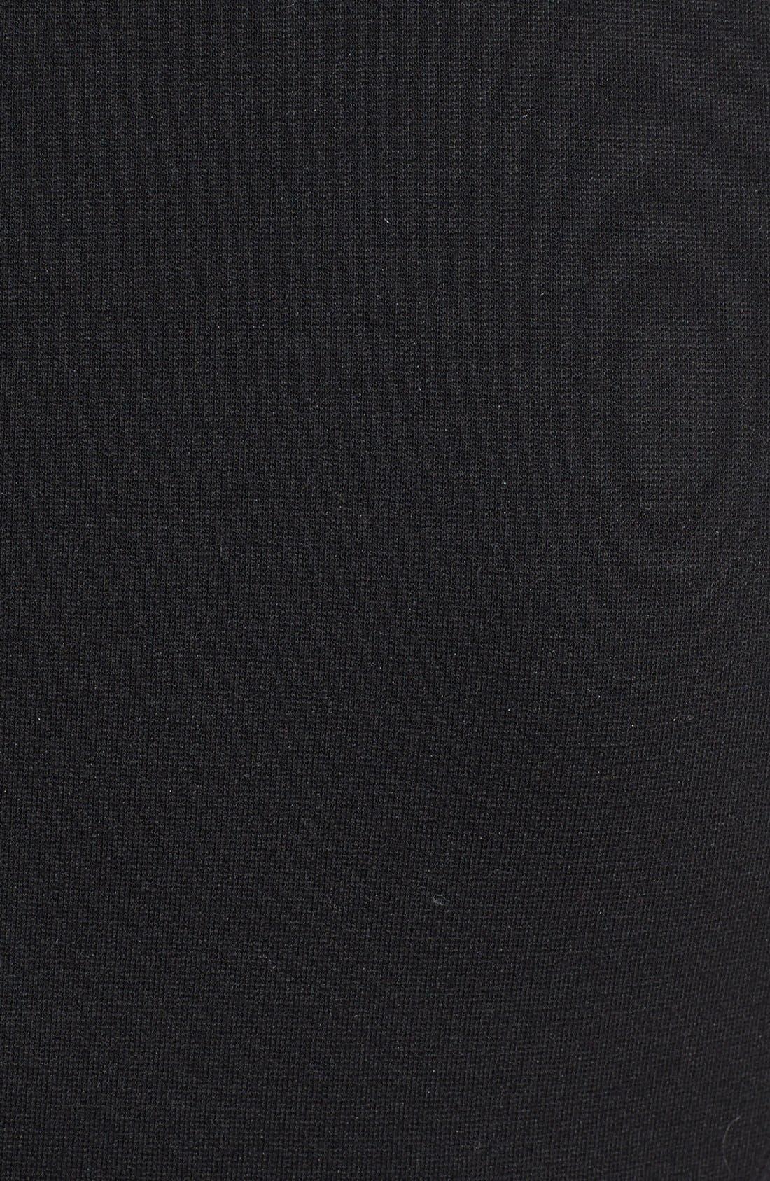 Alternate Image 3  - Classiques Entier® Three Quarter Sleeve Zip Front Italian Ponte Dress