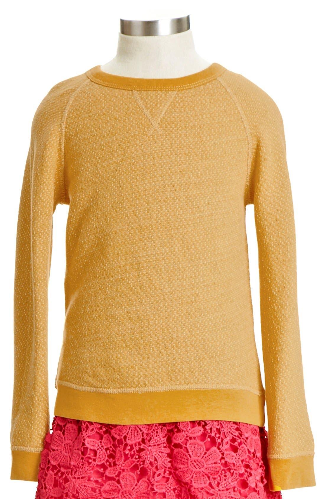 Alternate Image 1 Selected - Peek 'Kylie' Sweatshirt (Toddler Girls, Little Girls & Big Girls)