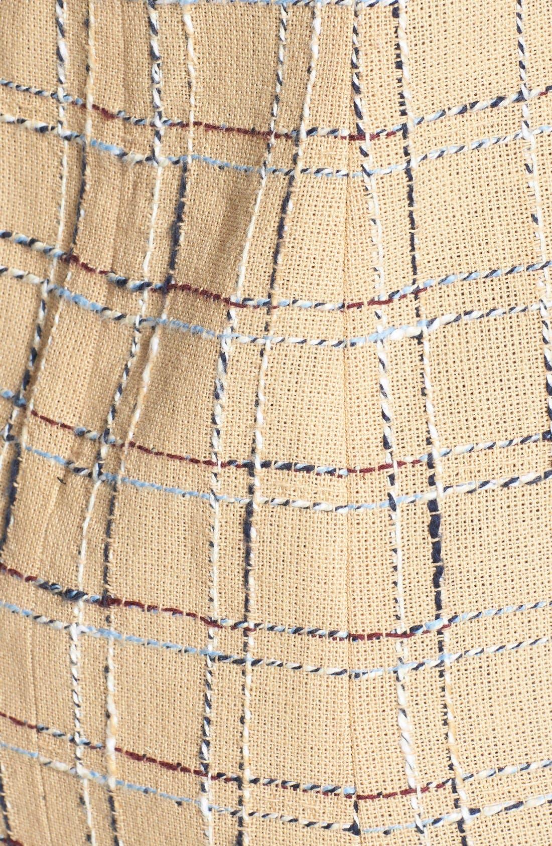 Alternate Image 3  - Tory Burch 'Evie' Woven Cotton & Linen Sheath Dress