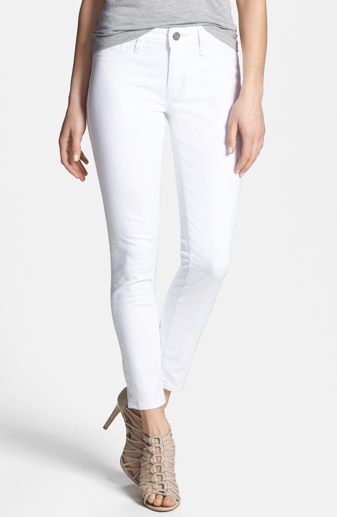 Main Image - Mavi Jeans 'Alexa' Stretch Ankle Skinny Jeans (White Nolita)